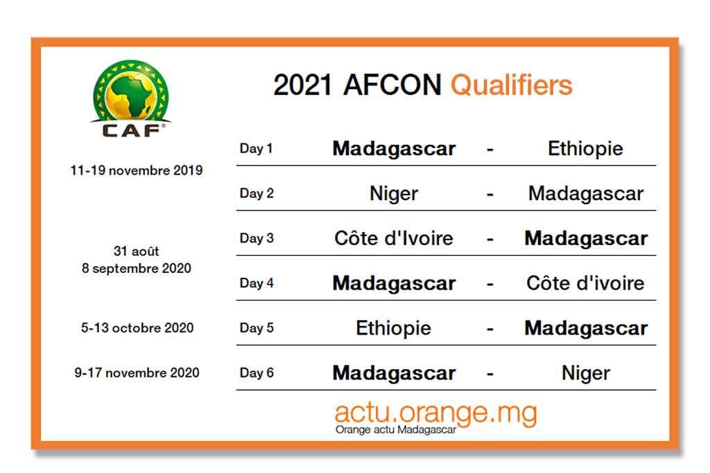 CAN 2021 : le premier match des Barea de Madagascar sera à domicile