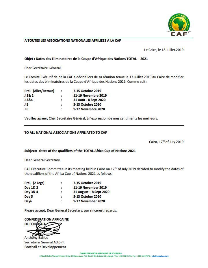 Calendrier De La Caf 2020.Can 2021 Madagascar Avec La Cote D Ivoire Le Niger Et L